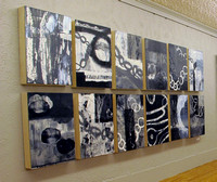 Black and White Monotype Installation